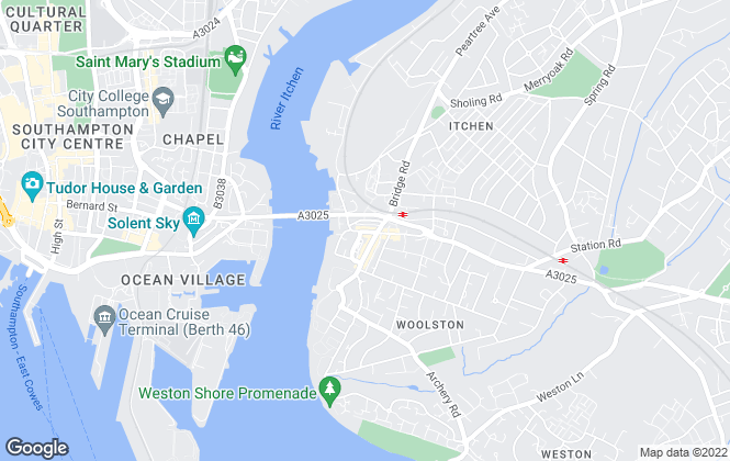 Map for Martin & Co, Southampton - Lettings & Sales