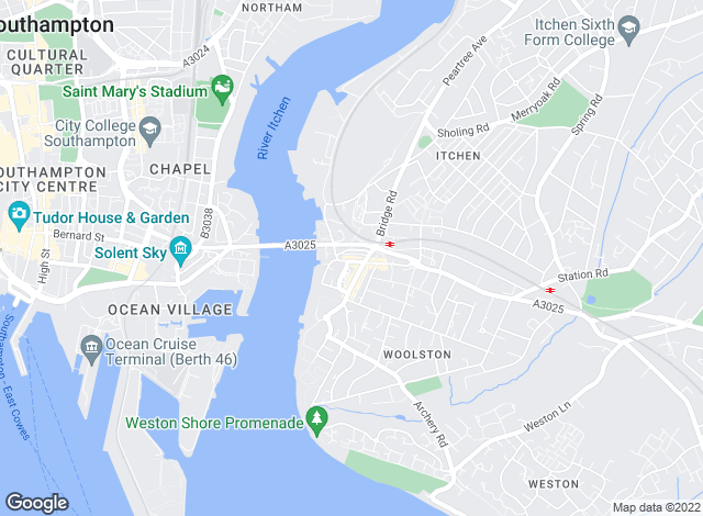 Map for Martin & Co, Woolston - Lettings & Sales