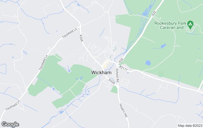 Map for Andrew Ross, Wickham