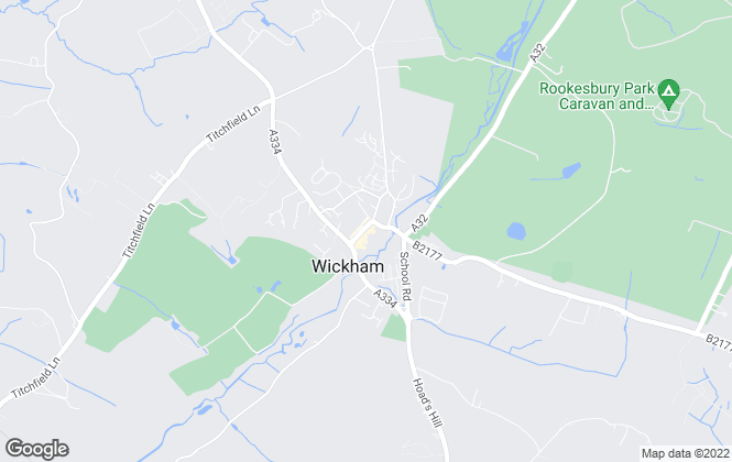 Map for Harringtons Services Ltd, Wickham