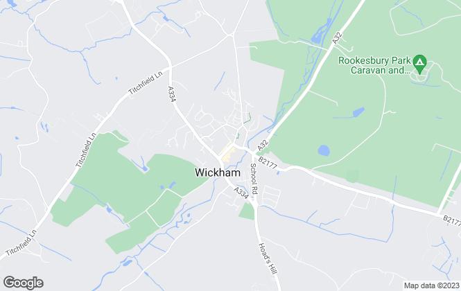 Map for Byrne Runciman , Wickham