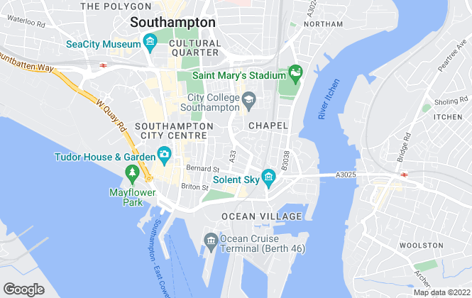 Map for Chiswell & Co Online, Southampton