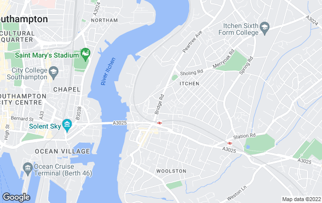 Map for Student Listings, Woolston