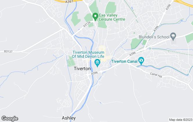 Map for Seddons, Tiverton