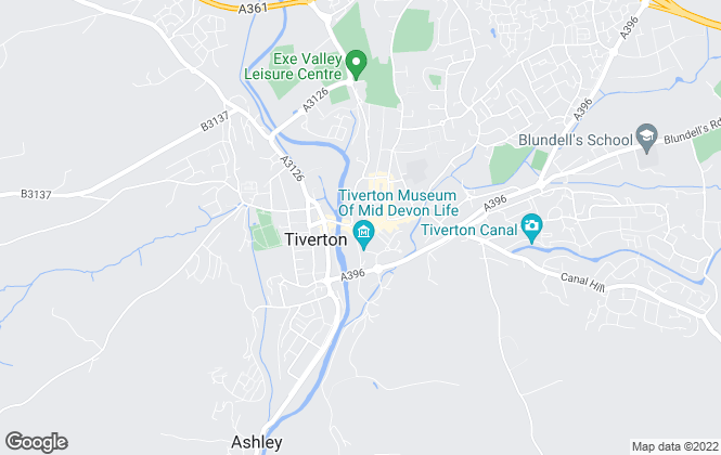 Map for Seddons, Tiverton