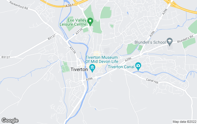Map for Stags, Tiverton (Lettings)