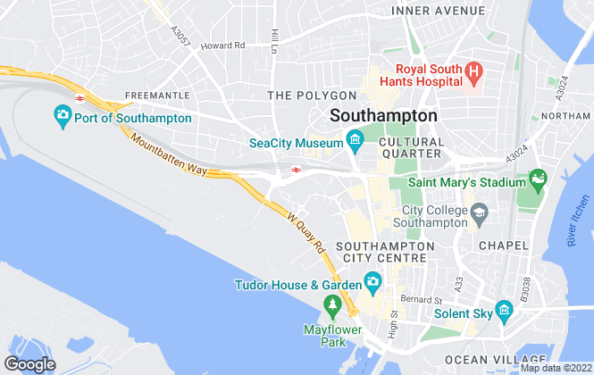 Map for Purplebricks, covering Southampton