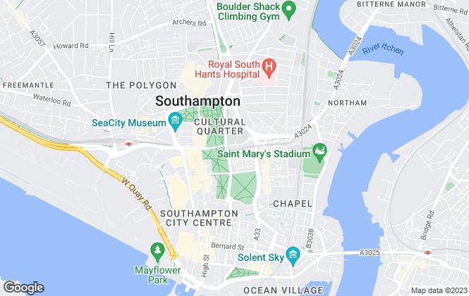 Map for Tenant Direct, Southampton