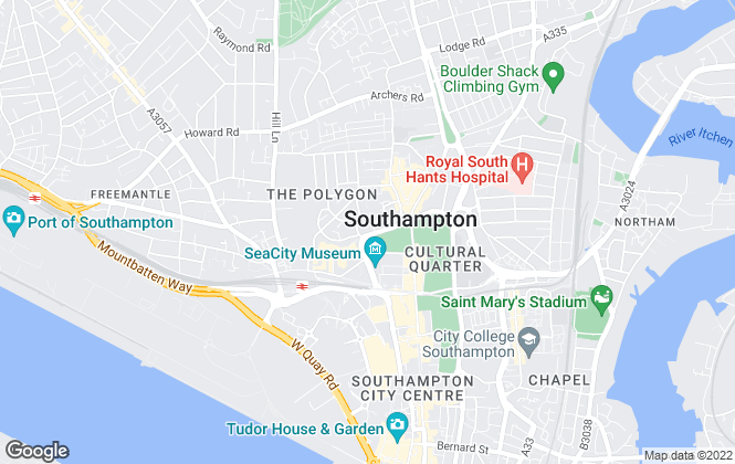Map for Home Hub Southampton, Southampton