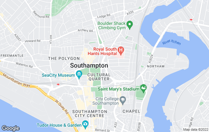 Map for Savills New Homes, Southampton