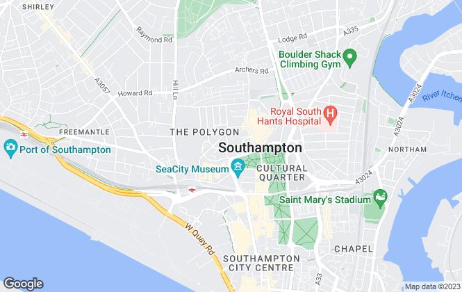 Map for Omega RE, Southampton