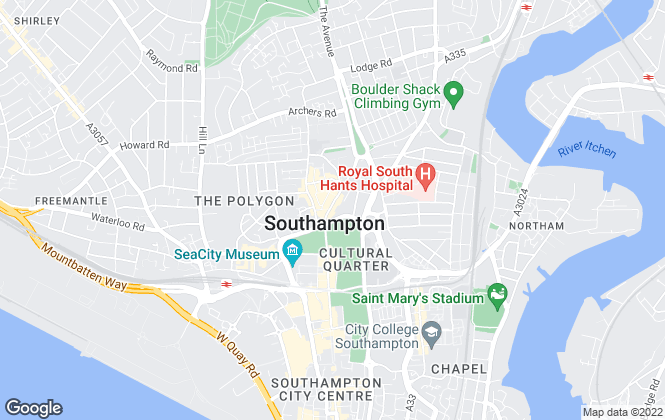 Map for Austin & Wyatt, Southampton