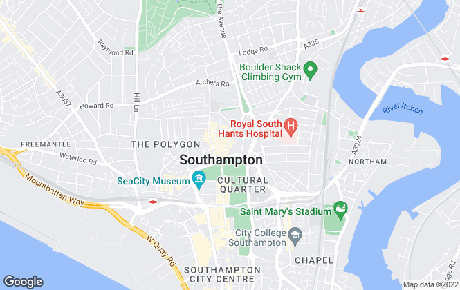 Map for Franklin Allan, Southampton