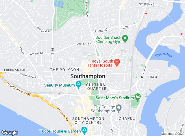Map for Pearsons, Southampton