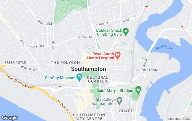 Map for Northwood, Southampton