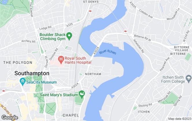 Map for Questmap Ltd, Southampton