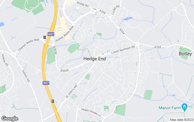 Map for Morris Dibben, Hedge End