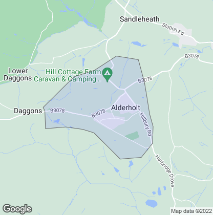 Map of property in Alderholt