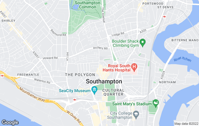 Map for Smart Homes, Southampton