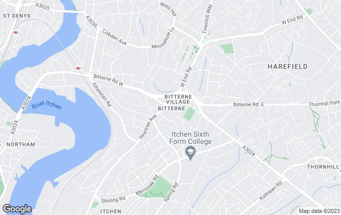Map for Stanford Estate Agents, Bitterne