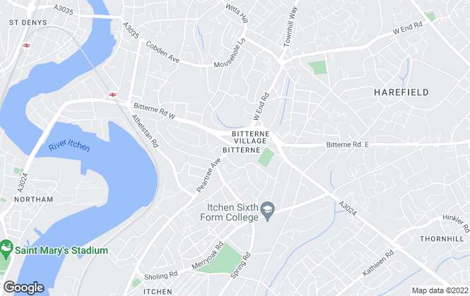 Map for Fox & Sons - Lettings, Bitterne