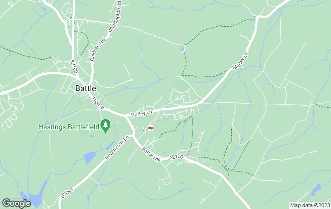 Map for Goring & Saunders Estate Agents, Battle