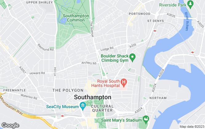 Map for Hughes Ellard , Southampton
