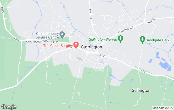 Map for Clarke and Charlesworth, Storrington