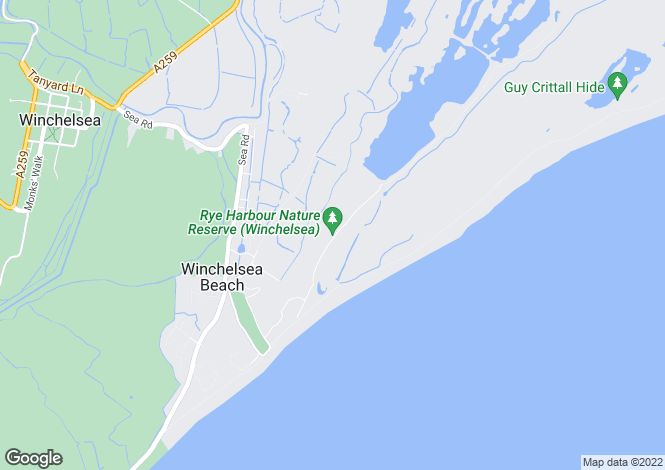 Map for Winchelsea Beach, Winchelsea, East Sussex, TN36