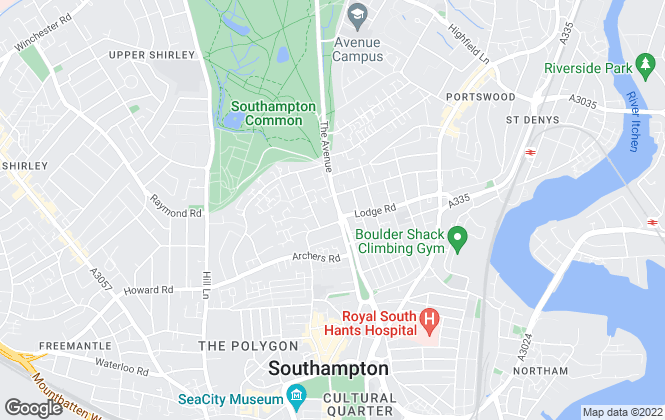 Map for Charters, Southampton