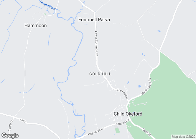 Map for Gold Hill, Child Okeford, Blandford Forum, Dorset