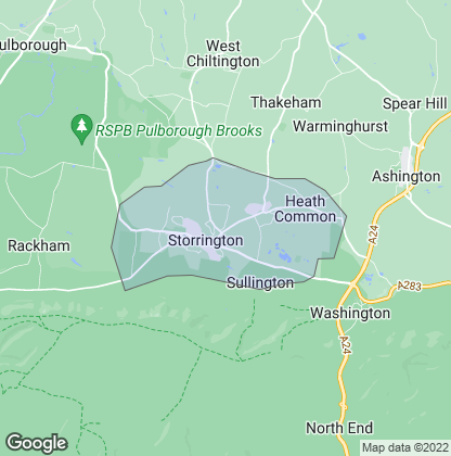 Map of property in Storrington