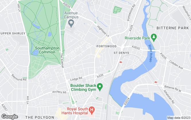 Map for Abbotts Langley, Southampton