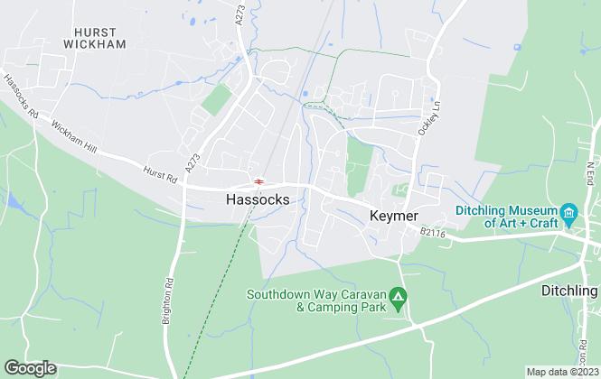 Map for Stuart & Partners, Hassocks