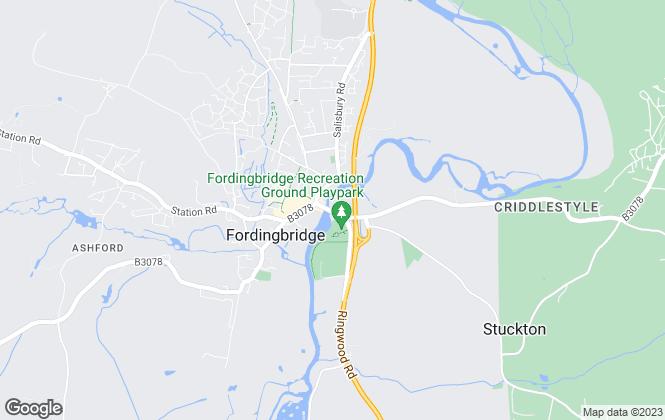 Map for Adrian Dowding, Fordingbridge