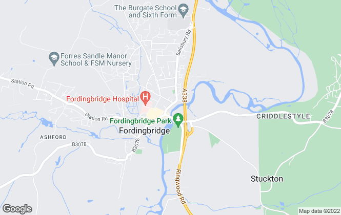 Map for Fox & Sons, Fordingbridge