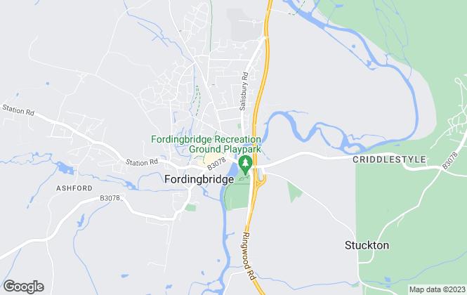 Map for Fox & Sons, Fordingbridge
