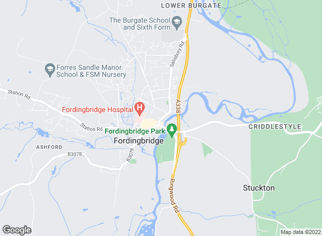 Map for Woolley & Wallis, Fordingbridge