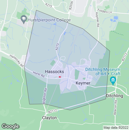 Map of property in Hassocks