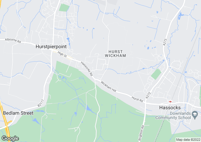 Map for Spinney Close, Hurstpierpoint, West Sussex, BN6 9AS