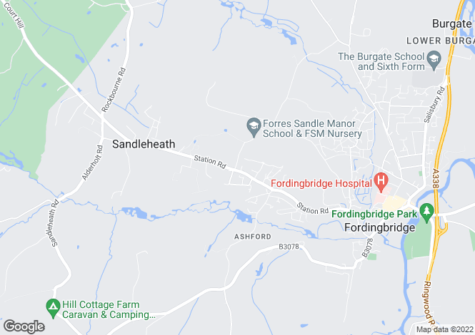 Map for Fordingbridge