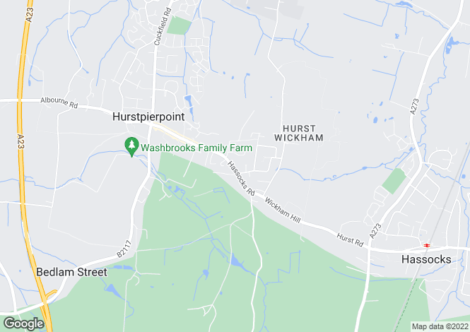 Map for Hassocks Road, West Sussex