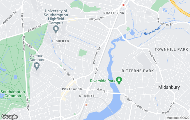 Map for Imove Homes, Portswood
