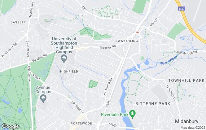Map for Fresh Student Living, Hampton Square