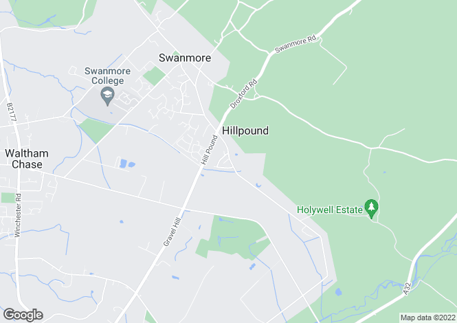 Map for Mislingford Road, Swanmore, SO32
