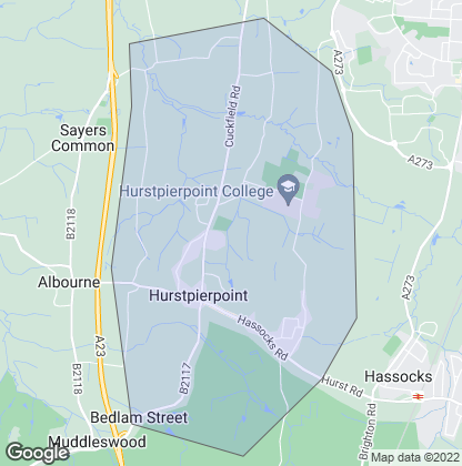 Map of property in Hurstpierpoint
