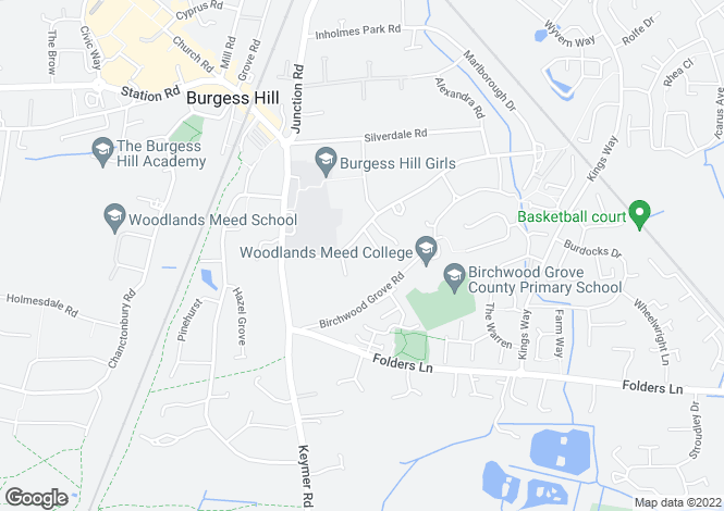 Map for THE VILLA, Ferndale Road, Burgess Hill, West Sussex, RH15 0HG