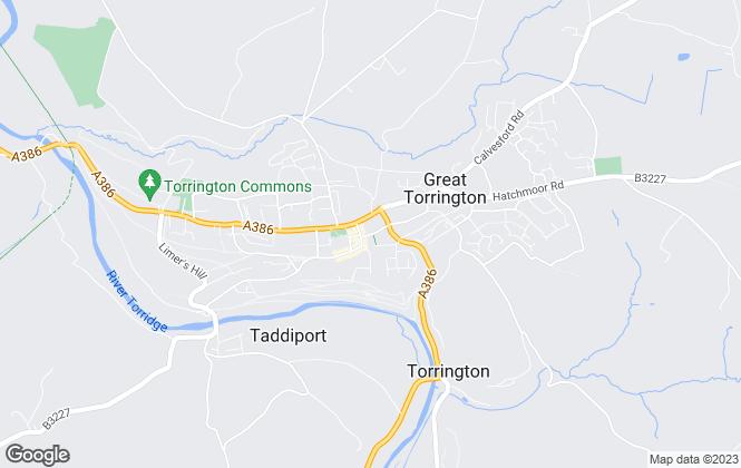 Map for Bond Oxborough Phillips, Torrington - Sales