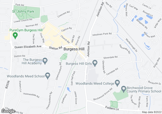 Map for , Burgess Hill RH15