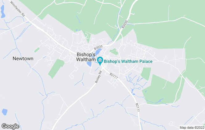 Map for Charters, Bishops Waltham